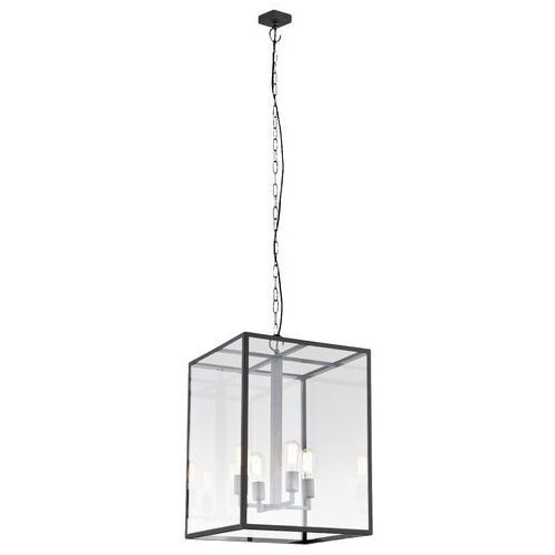 Lampa wisząca vita l 10157106 designerska oprawa klatka loft brązowa przezroczysta marki Kaspa