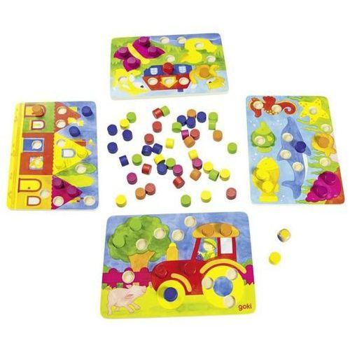 Gra rodzinna lub układanka kolorowe kostki 2 w 1