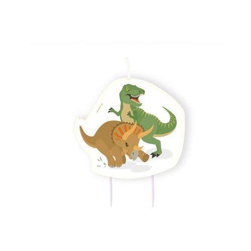 Świeczka urodzinowa dinozaury - 10 cm - 1 szt. marki Amscan