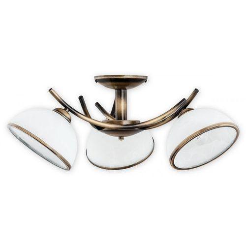 Lemir Altea O2233 W3 PAT plafon lampa sufitowa żyrandol 3x60W E27 patyna / biały (5902082867234)