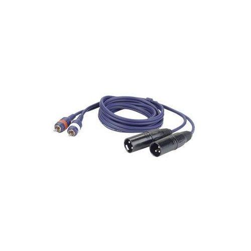 Kabel audio 2 x rca męskie – 2 x xlr męskie 3 pin wyprodukowany przez Dap audio