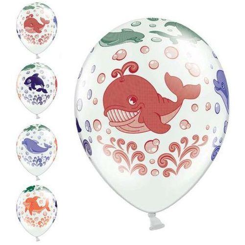 Balon biały ocean 30cm 1szt marki Twojestroje.pl