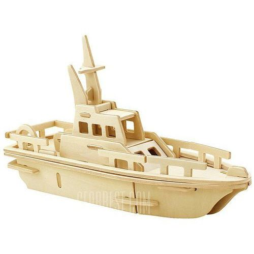 Robotime Yacht 3D Jigsaw Puzzle Woodcraft Assemble Toy Educational Game Kids Gift, kup u jednego z partnerów