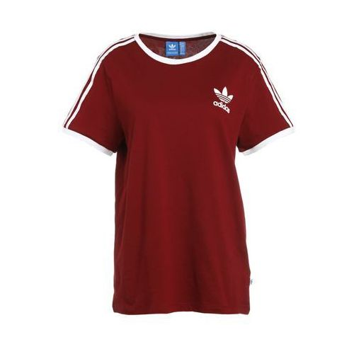 3stripes tshirt z nadrukiem bordeaux marki Adidas originals