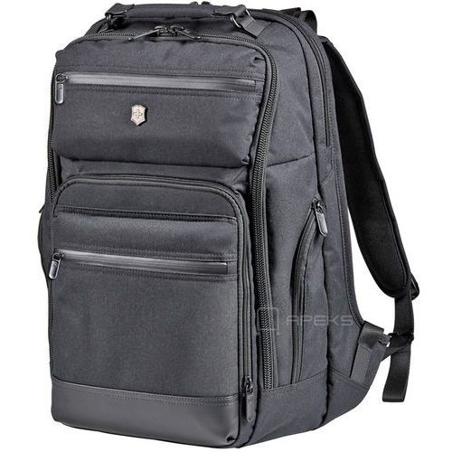 "Victorinox Architecture Urban Rath Slim Black Backpack plecak na laptop 17"" - Black"