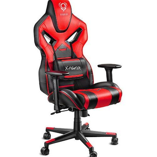 Fotel chairs x-fighter czarno-czerwony + zamów z dostawą jutro! marki Diablo