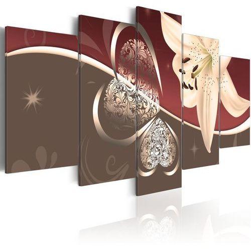 Obraz - abstrakcja z lilią - 5 części marki Artgeist