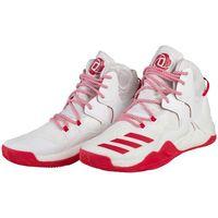 adidas Performance D ROSE 7 Obuwie do koszykówki white/ray red, kolor biały
