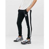 Puma t7 skinny joggers in black - black