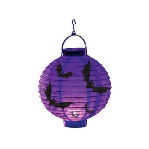 Świecący lampion nietoperze na halloween - 20 cm - 1 szt. marki Carnival