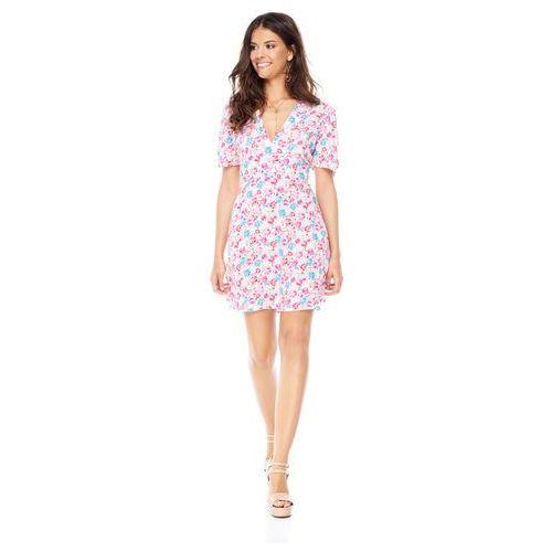 Sukienka cannes biała w kwiaty marki Sugarfree