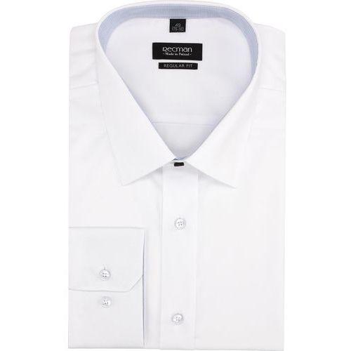 Recman Koszula bexley 2464 długi rękaw regular fit biały