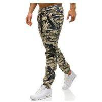 Spodnie męskie joggery beżowe denley 0952, Athletic