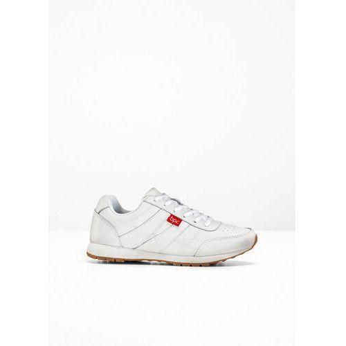 Sneakersy skórzane bonprix biały, kolor biały