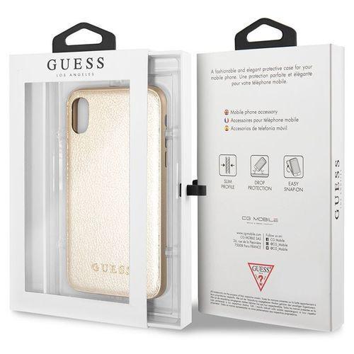 Guess Iridescent - Etui iPhone X (złoty) (3700740407790)