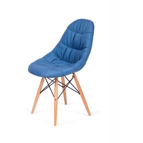 Krzesło nowoczesne RUGO niebieskie tkanina, K-223.DS03.NIEBIESKI (7812105)