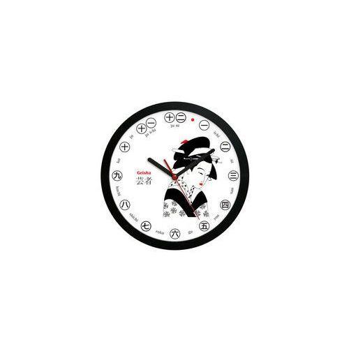 Zegar ścienny solid Japonia gejsza, ATE2301GJ