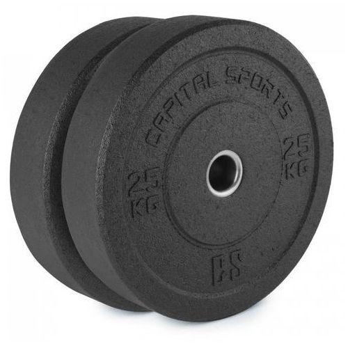 Capital Sports Renit Hi Temp Obciążniki 50,4 mm Rdzeń aluminiowy Guma 2x 25 kg