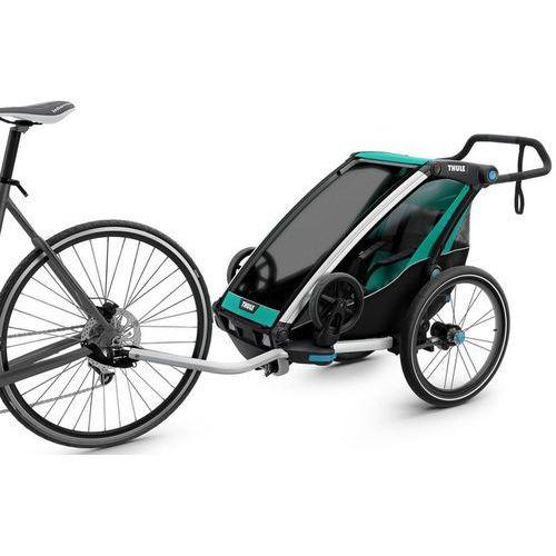 chariot lite1 przyczepka rowerowa zielony/czarny 2018 przyczepki dla dzieci marki Thule