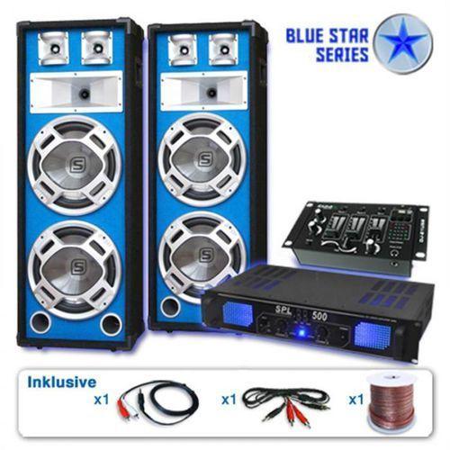 "Electronic-star blue star series ""bassveteran usb"" zestaw pa 1200w"