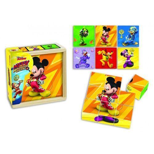 Klocki drewniane obrazkowe Myszka Miki Wyścig, 1_598693
