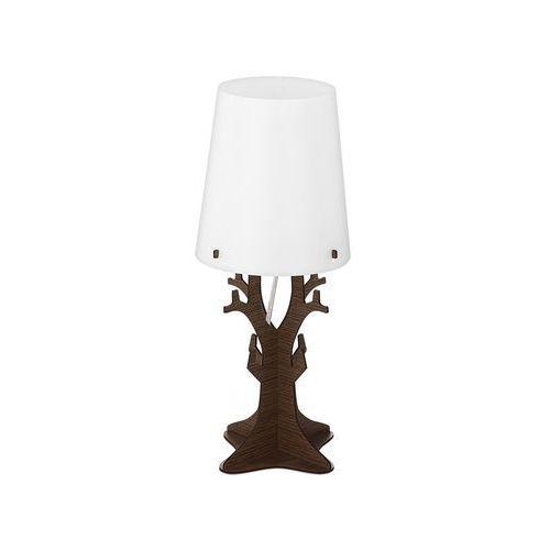Lampka stołowa huntsham 49368 nocna 1x40w e14 brązowa/biała marki Eglo