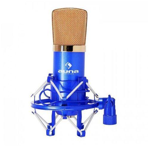 CM001B studyjny mikrofon pojemnościowy XLR nieb./złoty