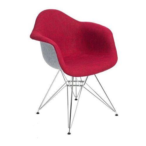 Krzesło p018 duo inspirowane dar - szary ||czerwony marki D2.design