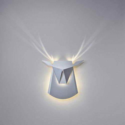 Dear head-kinkiet led jeleń z wtyczką dł.39cm marki Popup lighting
