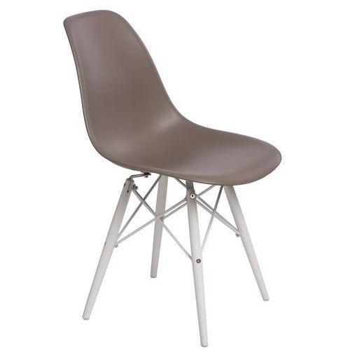 D2design Krzesło p016w pp mild grey/white