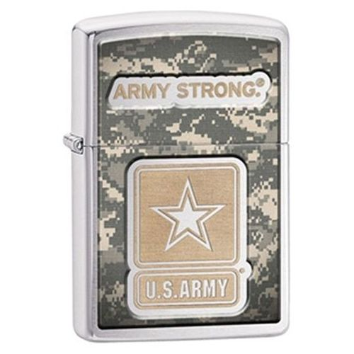 Zapalniczka  us army- army strong, emblem brushed chrome marki Zippo
