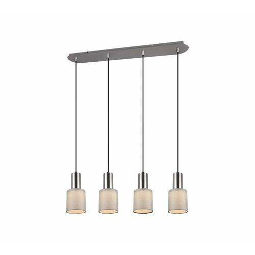 Trio wailer 303600407 lampa wisząca zwis 4x5w gu10 niklowa/szara (4017807454727)