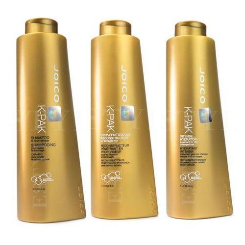 Joico K-Pak | Zestaw regenerujący: szampon 1000ml + maska 1000ml + terapia nawilżająca 1000ml