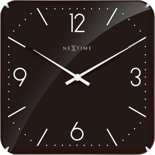 Zegar ścienny 3175 basic square dome 35x35cm marki Nextime