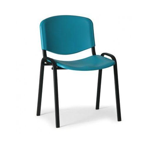 Plastikowe krzesło ISO, zielony - kolor konstrucji czarny