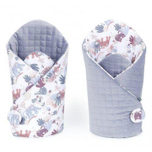Rożek niemowlęcy dwustronny velvet lux - Sawanna Szary Świt/ Szary