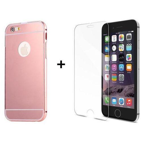 Zestaw   Mirror Bumper Metal Case Różowy + Szkło ochronne Perfect Glass   Etui dla Apple iPhone 6 / 6S z kategorii Futerały i pokrowce do telefonów