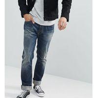 Nudie Jeans Co Dude Dan Jeans Dark Authentic Wash - Navy, kolor szary