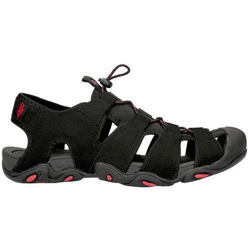 4f Męskie sandały trekkingowe h4l18 sam003 czarny/czerwony 42
