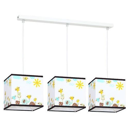 Lampa wisząca Luminex Kid Animals 8810 lampa sufitowa dziecięca 3x60W E27 biała / kolorowa
