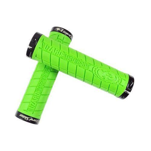 LZS-LOLDS700 Chwyty kierownicy Lizard Skins Logo Lock On 30,5x130 mm zielone klamry czarne