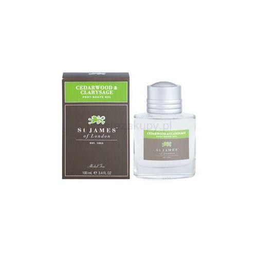 St. james of london  cedarwood & clarysage żel po goleniu dla mężczyzn 100 ml + do każdego zamówienia upominek., kategoria: pozostałe zapachy dla mężczyzn