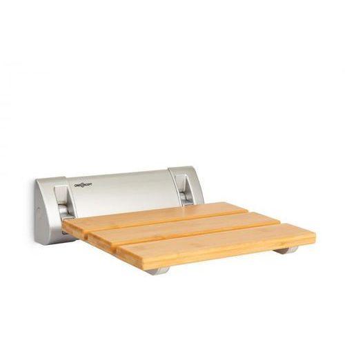 arielle, siedzisko prysznicowe, bambus, aluminium, składane, maks. 160 kg, drewno marki Oneconcept