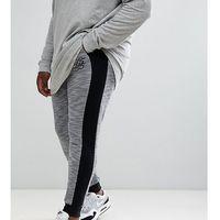 king size knitted jogger with contrast side panels - grey, Duke, XXXL-XXXXL