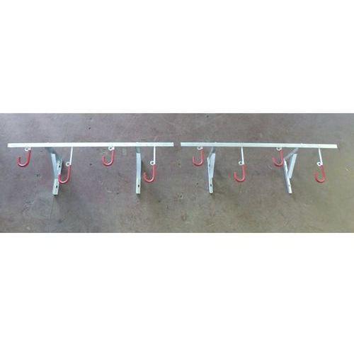 Zawieszanie rowerów, do mocowania do ściany, dł. 2800 mm. przy ograniczonej powi marki Melzer metallbau gmbh & co. kg