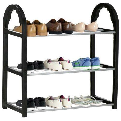 Regał na buty z metalowymi 3 półkami szafka czarny (5907719416014)
