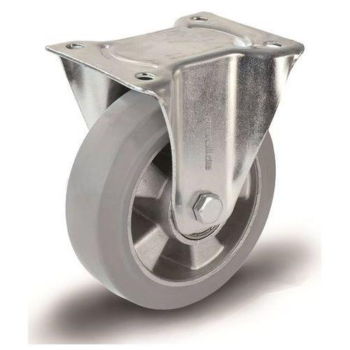 Elastyczne ogumienie pełne, szare, Ø kółka x szer. 125x40 mm, felga pełna, rolka marki Proroll