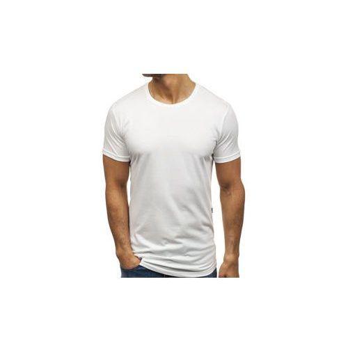 Breezy T-shirt męski bez nadruku biały denley 181227