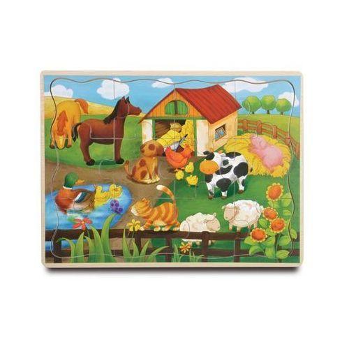 Puzzle drewniane farma 12 marki Playme