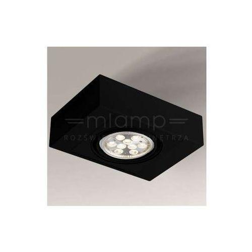 Spot LAMPA nastropowa KOGA H 1225/G53/CZ Shilo metalowa OPRAWA prostokątna czarna